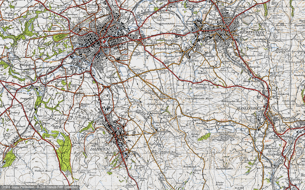 Old Map of Bank Fold, 1947 in 1947