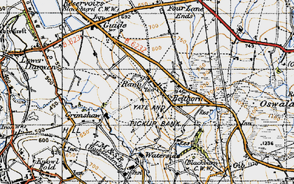 Old map of Bank Fold in 1947