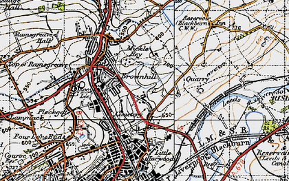 Old map of Bank Hey in 1947
