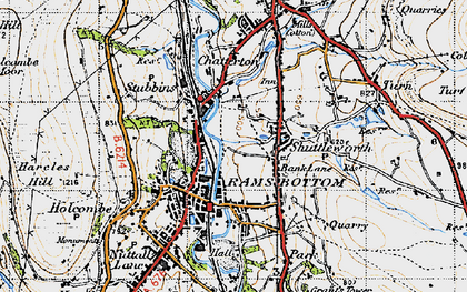Old map of Bank Lane in 1947