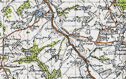 Old map of Bank Street in 1947