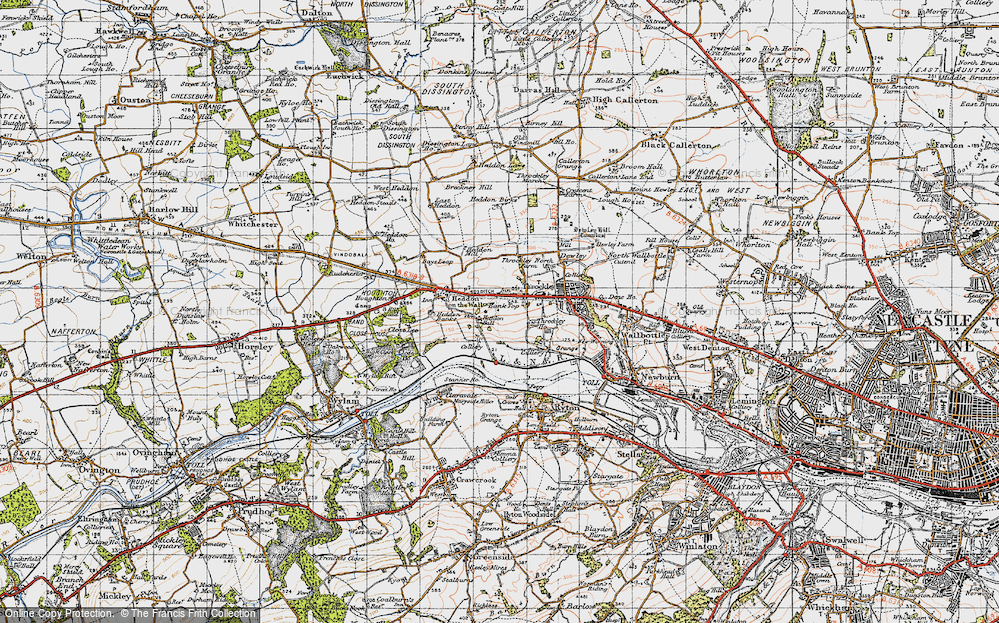 Old Map of Bank Top, 1947 in 1947