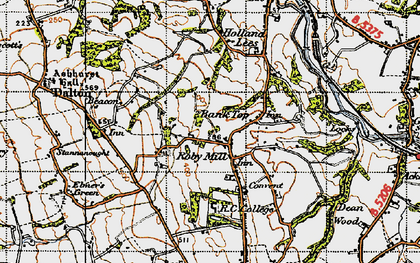 Old map of Bank Top in 1947