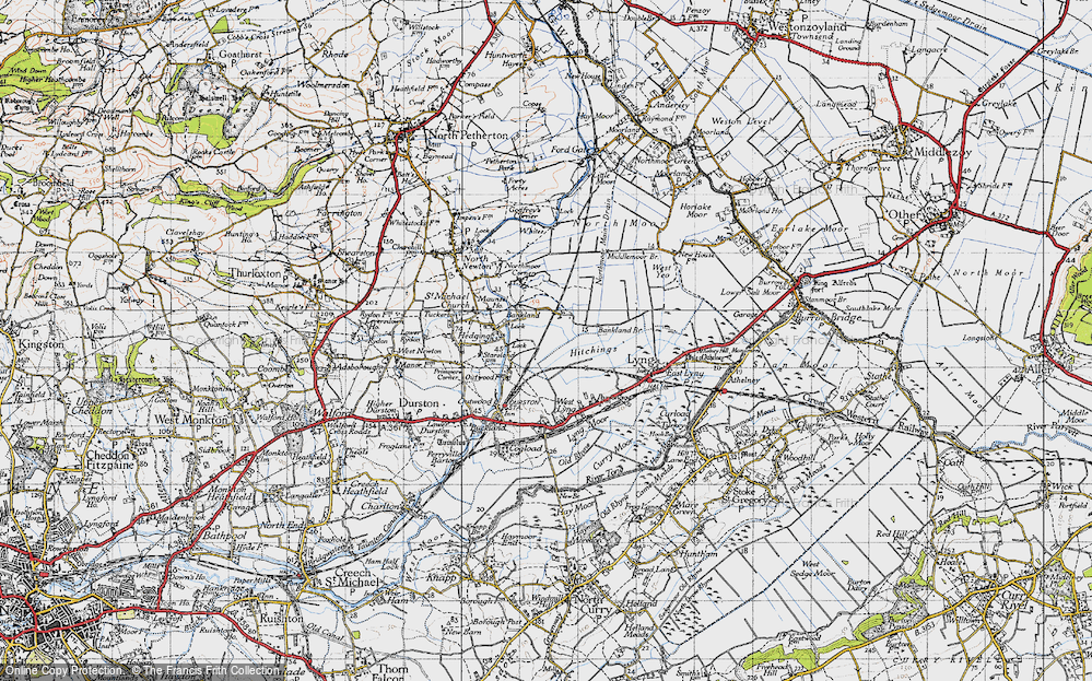 Old Map of Bankland, 1945 in 1945