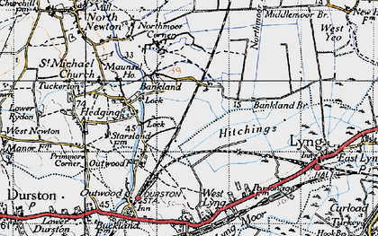 Old map of Bankland in 1945