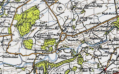 Old map of Allensteads in 1947