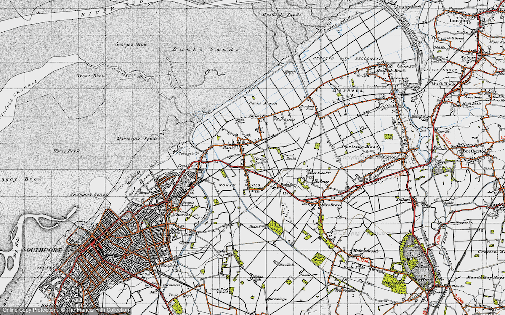 Old Map of Banks, 1947 in 1947