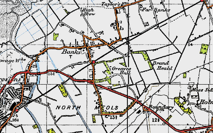 Old map of Banks in 1947