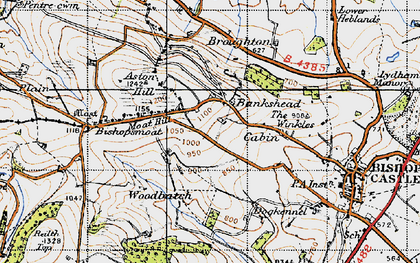 Old map of Bankshead in 1947