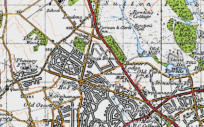 Old map of Westwood Coppice in 1946