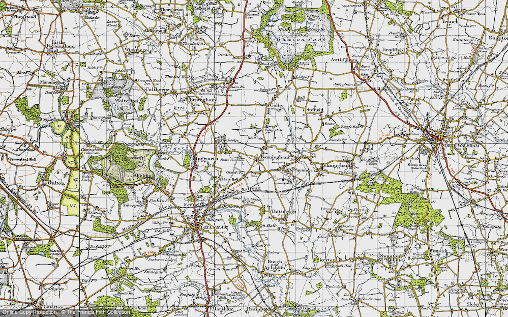 Old Map of Banningham, 1945 in 1945