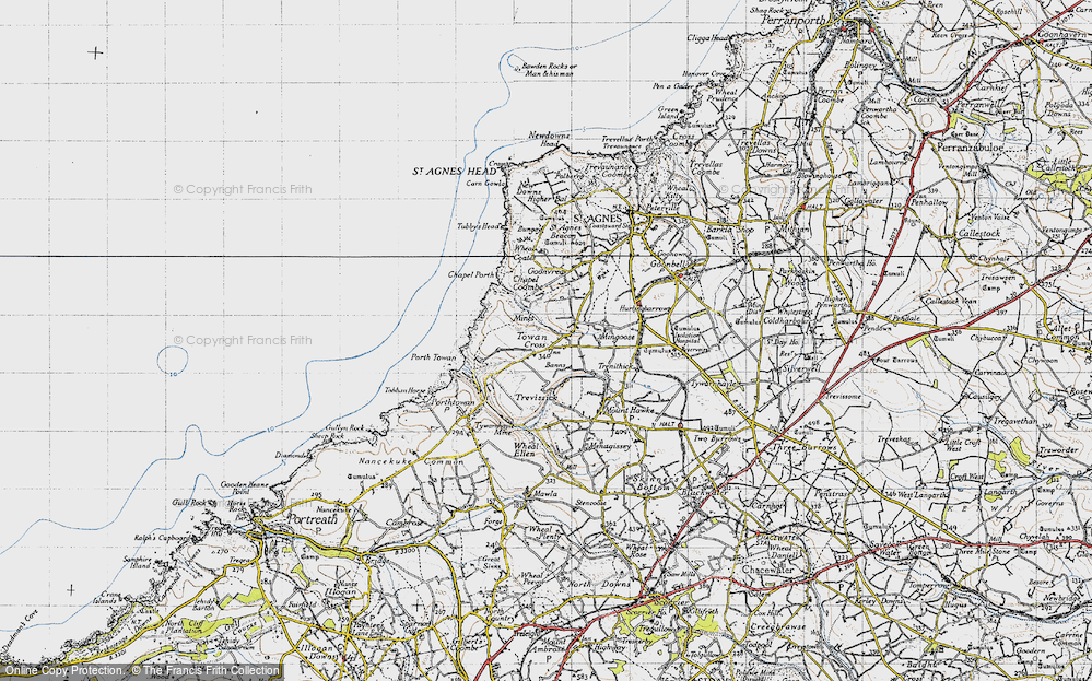 Old Map of Banns, 1946 in 1946