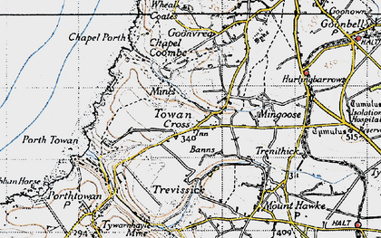 Old map of Banns in 1946