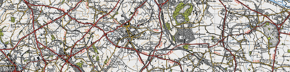 Old map of White Rose Centre in 1947