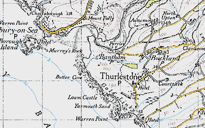 Old map of Bantham in 1946