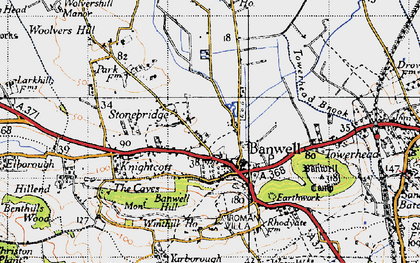 Old map of Banwell in 1946