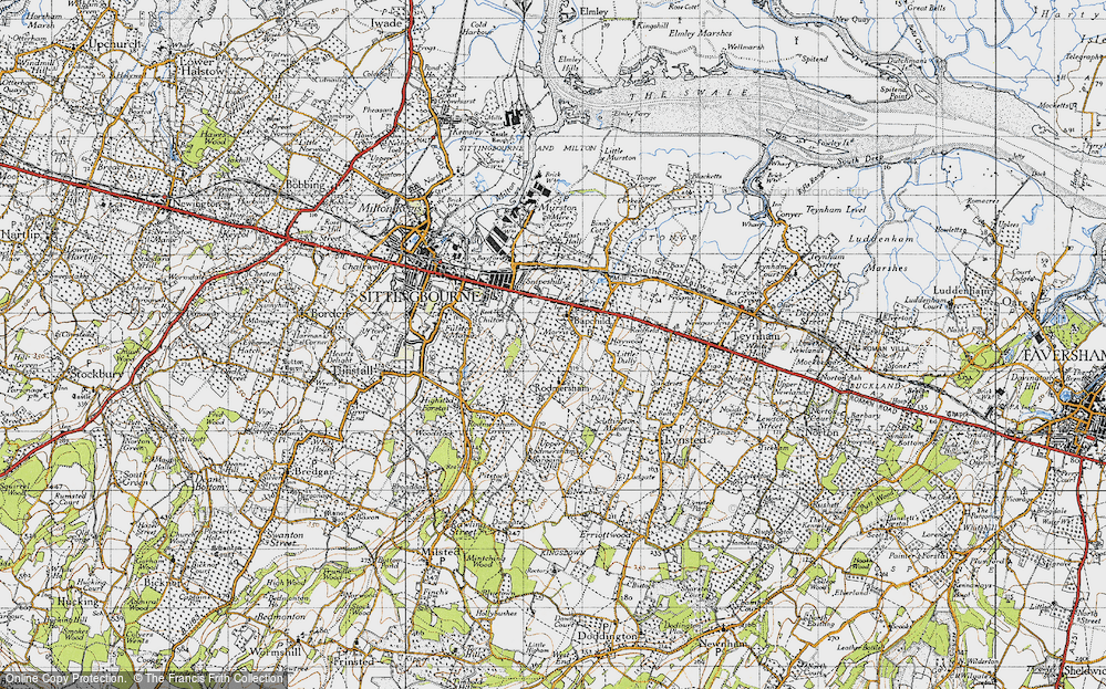 Old Map of Bapchild, 1946 in 1946