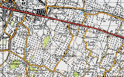 Old map of Bapchild in 1946