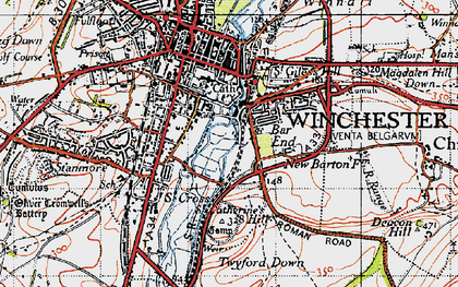 Old map of Bar End in 1945