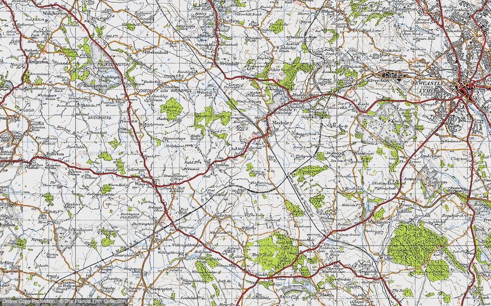 Old Map of Bar Hill, 1946 in 1946