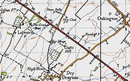 Old map of Bar Hill in 1946