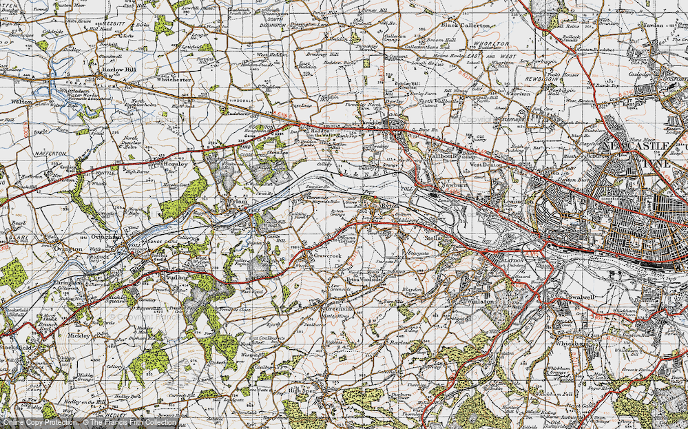 Old Map of Bar Moor, 1947 in 1947