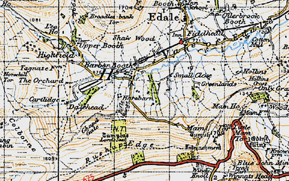 Old map of Barber Booth in 1947