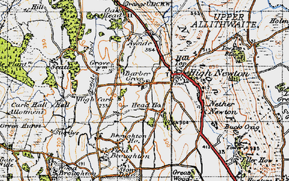 Old map of Barber Green in 1947