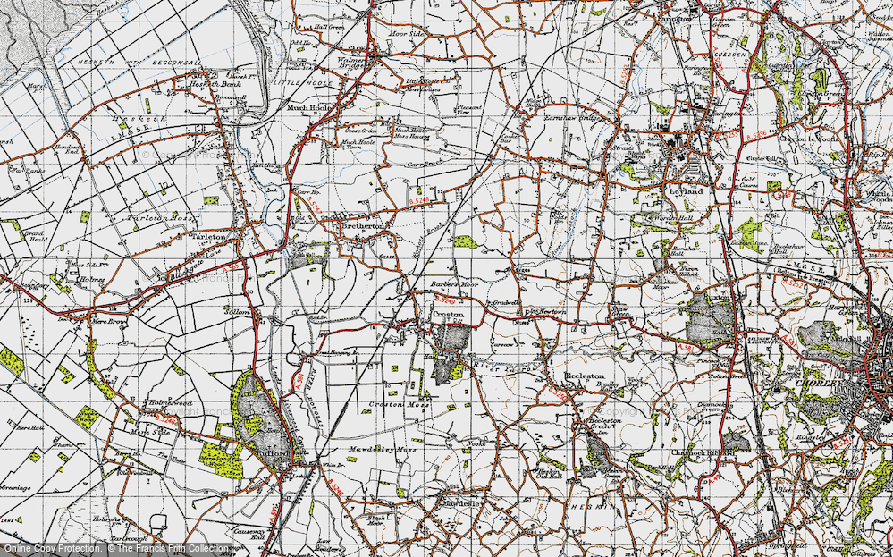 Old Map of Barber's Moor, 1947 in 1947