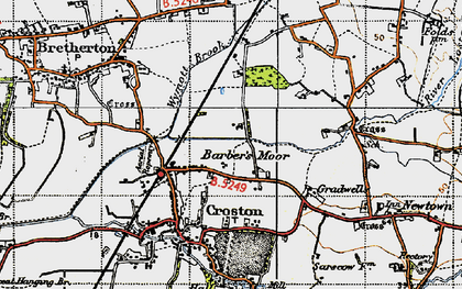Old map of Barber's Moor in 1947