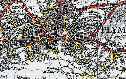 Old map of Barbican in 1946