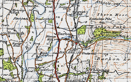 Old map of Barbondale in 1947