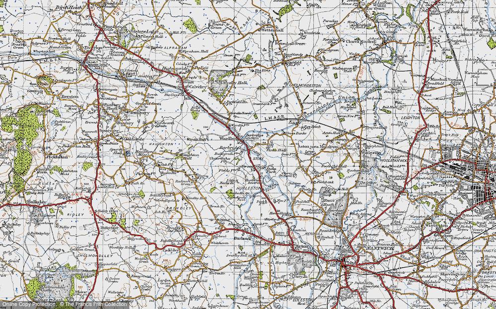 Old Map of Barbridge, 1947 in 1947