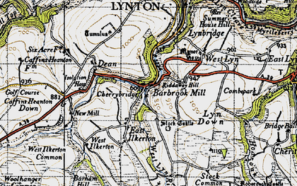 Old map of Barbrook in 1946