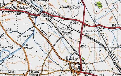 Old map of Barby Nortoft in 1946