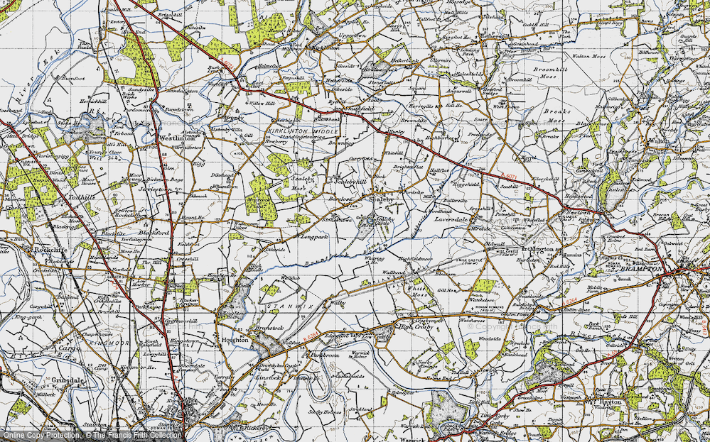 Old Map of Barclose, 1947 in 1947