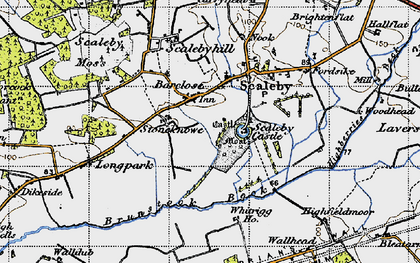 Old map of Barclose in 1947