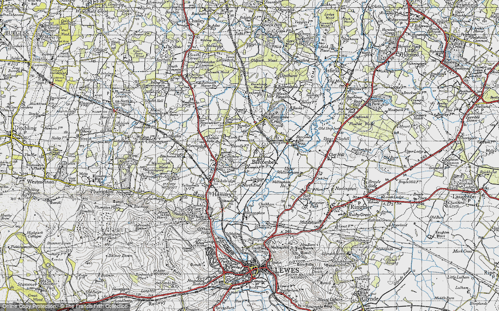 Old Map of Barcombe, 1940 in 1940