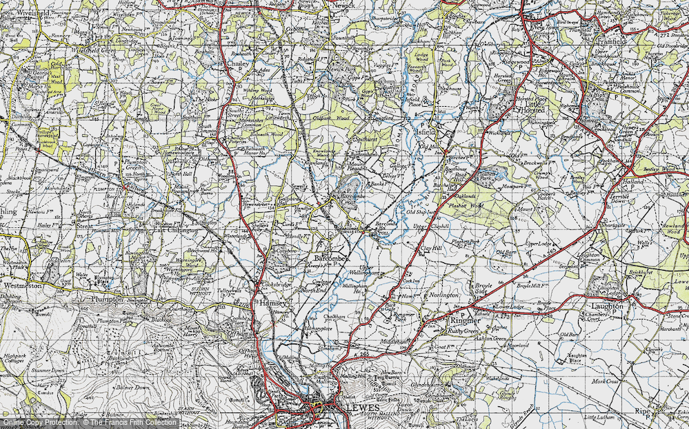 Old Map of Barcombe Cross, 1940 in 1940