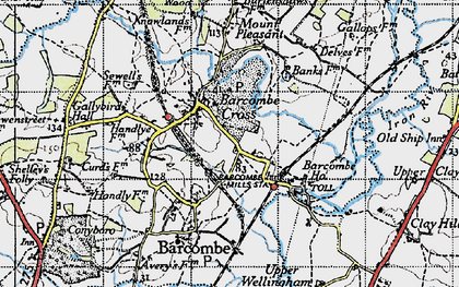 Old map of Barcombe Cross in 1940