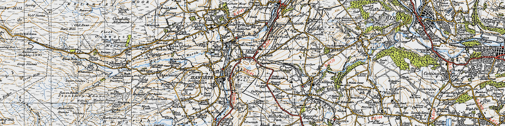 Old map of Worth Way in 1947
