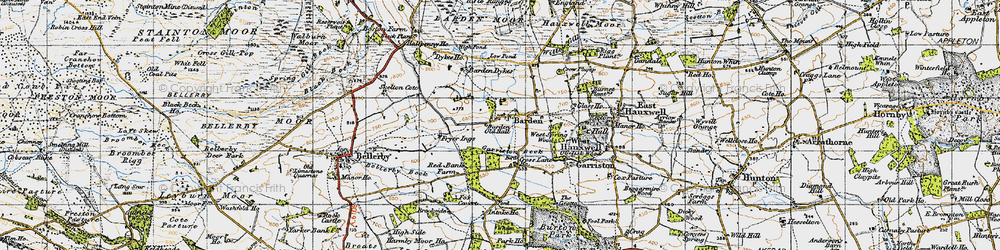 Old map of Barden in 1947