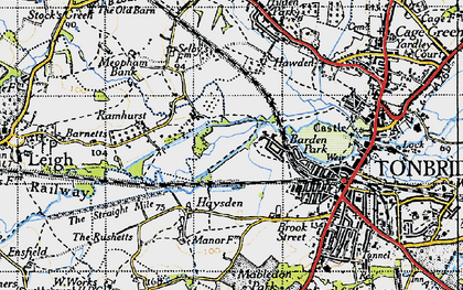 Old map of Barden Park in 1946