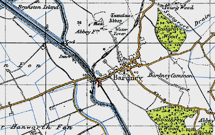 Old map of Bardney Common in 1946