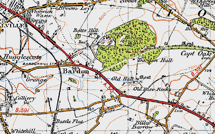 Old map of Bardon in 1946
