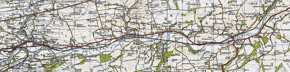 Old map of Bardon Mill in 1947