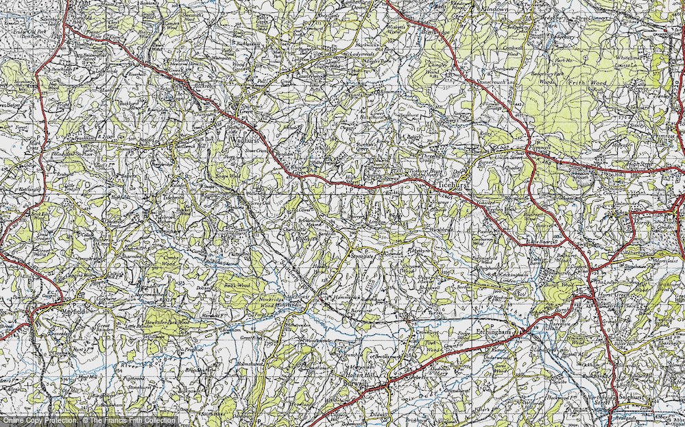 Old Map of Bardown, 1940 in 1940