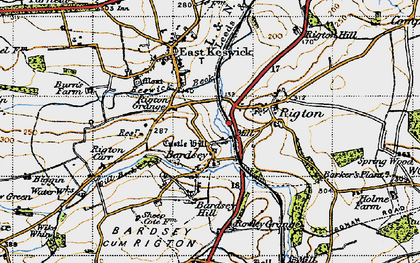 Old map of Barker's Plantn in 1947