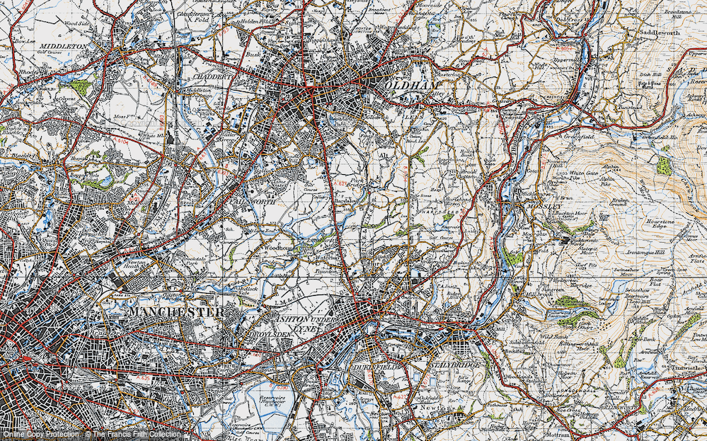 Old Map of Bardsley, 1947 in 1947