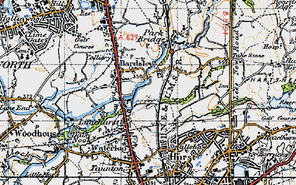 Old map of Bardsley in 1947